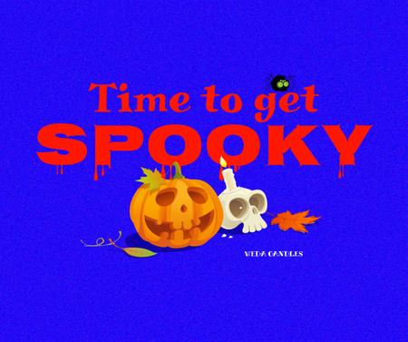 Candy Shop offer with Halloween Pumpkins Facebook – шаблон для дизайна