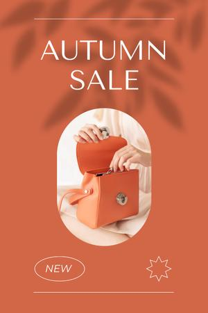 Summer Sale Ad with Stylish Female Bag Pinterest Tasarım Şablonu