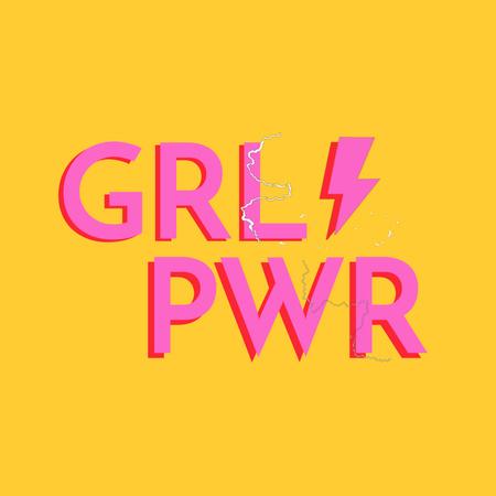 Girl Power bright Inspiration Animated Post – шаблон для дизайну