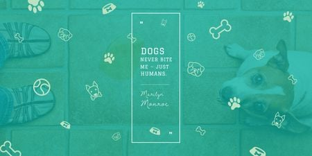 Ontwerpsjabloon van Twitter van Citation about good dogs