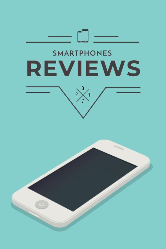 Plantilla de diseño de Smartphones reviews ad in blue Tumblr