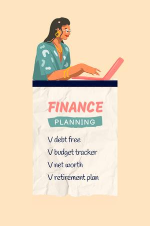 Plantilla de diseño de Finance Planning Tips Pinterest