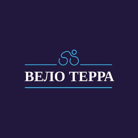 Cycling Club Ad with Man on Bicycle Logo – шаблон для дизайна