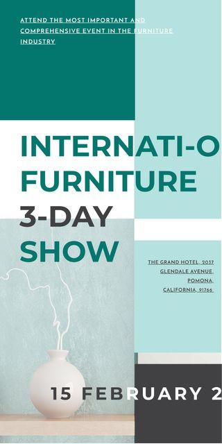 Furniture Show announcement Vase for home decor Graphic Modelo de Design