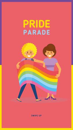 Ontwerpsjabloon van Instagram Story van Girls at pride parade