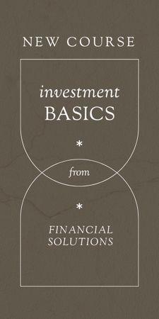 Finances and Investment Course promotion Graphic Modelo de Design