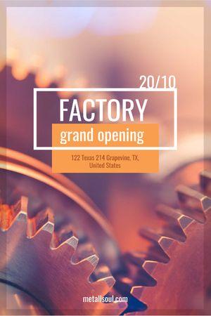 Factory Opening Announcement Mechanism Cogwheels Tumblr Design Template