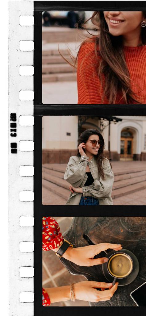 Stylish Girl on a walk in City Snapchat Moment Filter – шаблон для дизайну