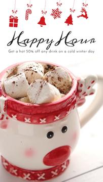 Winter Holidays Offer Cocoa with Marshmallow