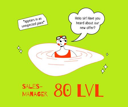 Funny joke about Professional Sale Manager Facebook – шаблон для дизайна