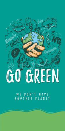 Modèle de visuel Eco lifestyle Concept with Planet in Hands - Graphic