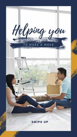 Plantilla de diseño de Couple renovating their home Instagram Story