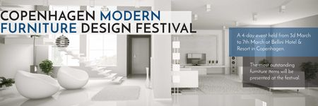 Furniture Design Festival Modern White Room Twitter Modelo de Design