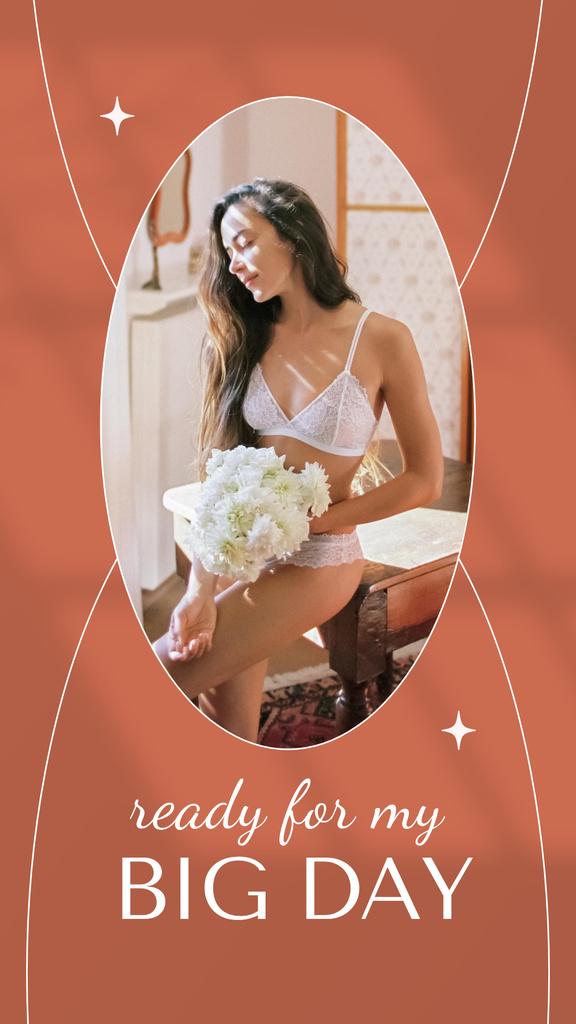 Young Beautiful Bride preparing for Wedding Instagram Storyデザインテンプレート