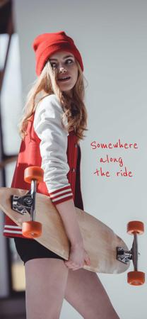 skateboard girl Snapchat Geofilter – шаблон для дизайна