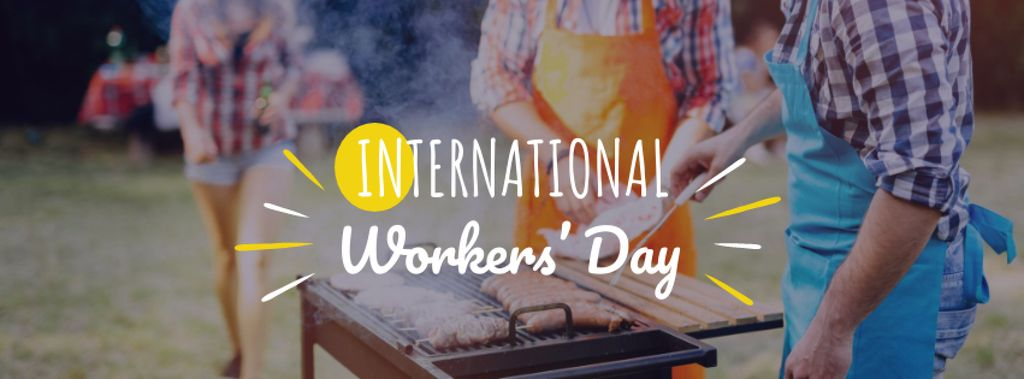 International Worker's Day Celebration Facebook cover Design Template