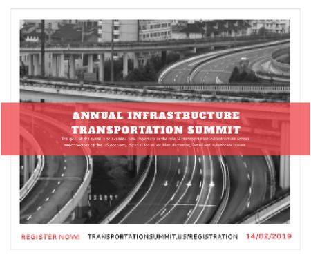 Annual infrastructure transportation summit Medium Rectangle – шаблон для дизайну