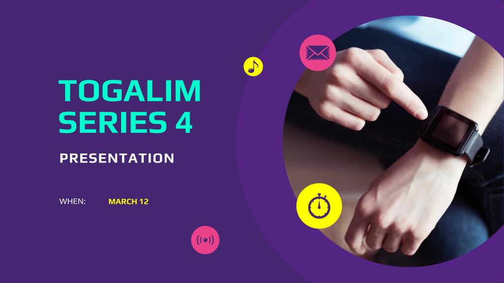 Ontwerpsjabloon van FB event cover van Smart Watches Presentation Announcement