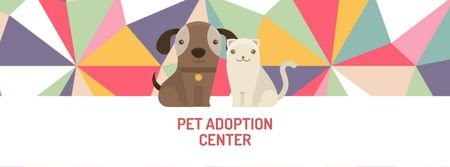 Plantilla de diseño de Animal Adoption center with Cute Pets Facebook cover
