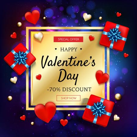 Plantilla de diseño de Sale Offer Gifts for Valentine's Day Instagram AD