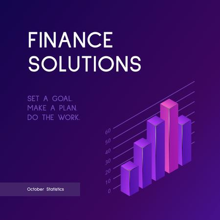 Diagram for Finance Solutions Instagram Design Template