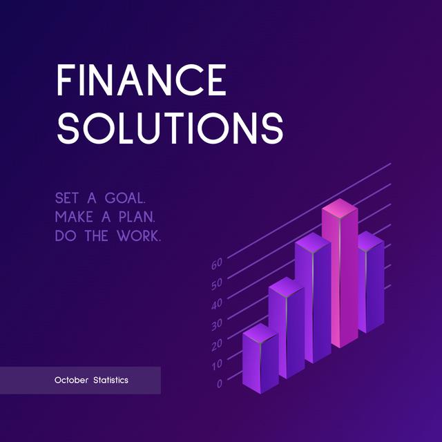 Ontwerpsjabloon van Instagram van Diagram for Finance Solutions