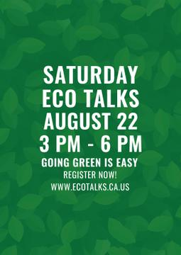 Ecological Event Announcement Green Leaves Texture