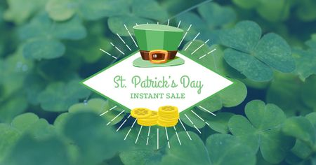 Ontwerpsjabloon van Facebook AD van St. Patricks Day Sale Offer