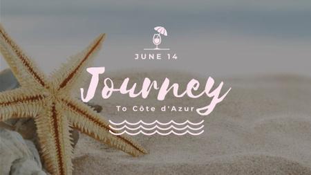 Plantilla de diseño de Starfish in Sand by the Sea FB event cover