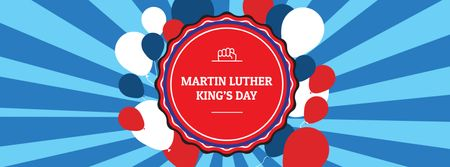 Ontwerpsjabloon van Facebook cover van Martin Luther King Day Celebration Announcement