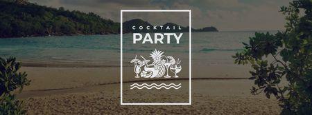 Plantilla de diseño de Summer Party Inspiration Palm Trees by Sea Facebook cover