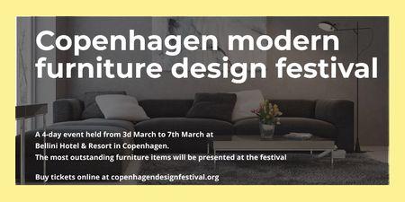 Plantilla de diseño de Copenhagen modern furniture design festival Twitter