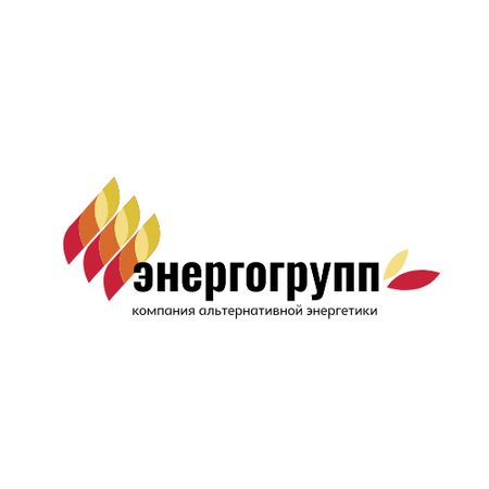 Renewable Energy Leaves Icon in Red Logo – шаблон для дизайна