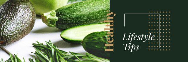 Designvorlage Healthy Food with Vegetables and Greens für Email header