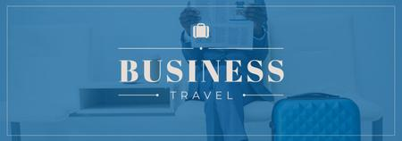 Businessman with Travelling Suitcase Tumblr – шаблон для дизайну