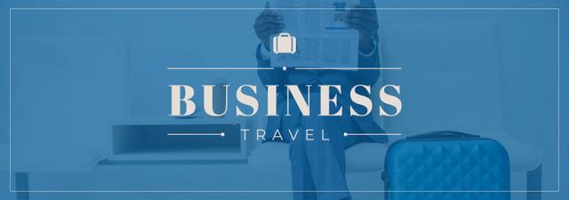 Plantilla de diseño de Businessman with Travelling Suitcase Tumblr