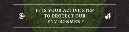 Plantilla de diseño de Citation about protect our environment Twitter