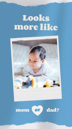 Plantilla de diseño de Cute Little Newborn Baby Instagram Story