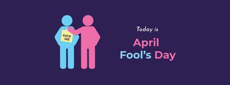 Plantilla de diseño de April Fool's Day with People pranking Facebook cover