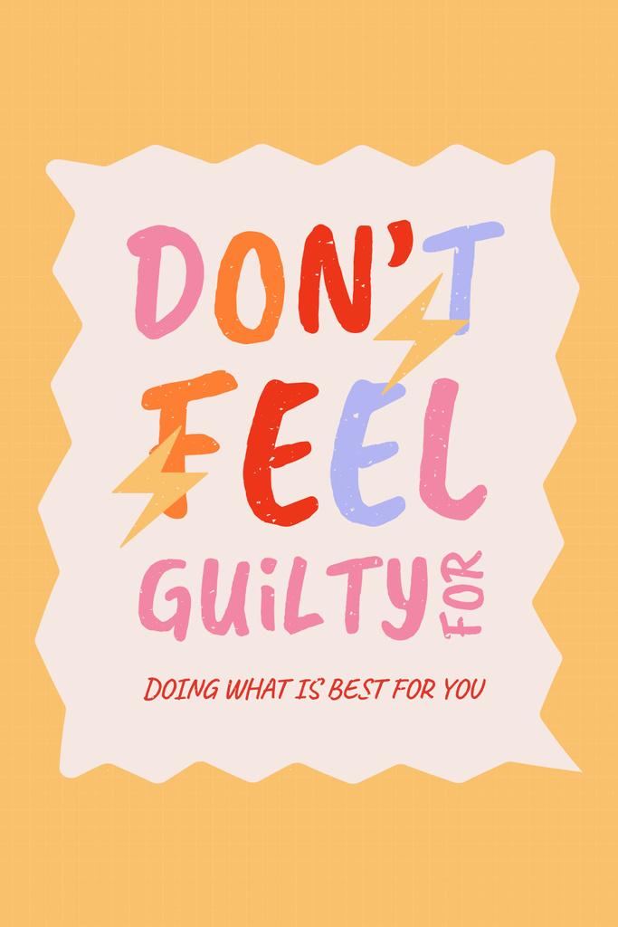 Platilla de diseño Inspirational Phrase about Mental Health Pinterest