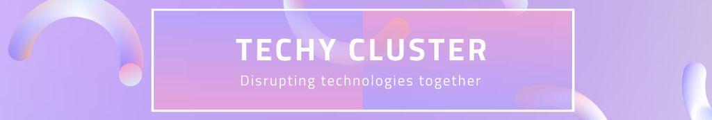 Tech Company Profile on purple Digital pattern —デザインを作成する