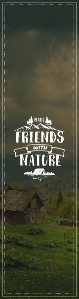Nature Quote Scenic Mountain View — Создать дизайн
