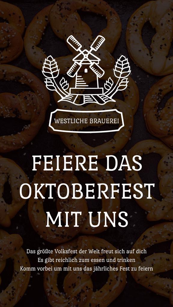 Oktoberfest Invitation with Pretzels and Mill — Створити дизайн