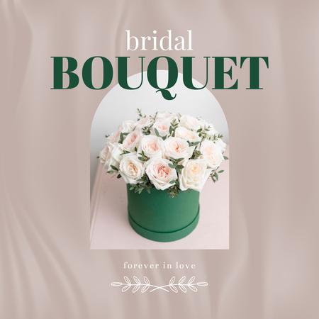 Template di design Bridal Bouquet of Tender white Roses Instagram