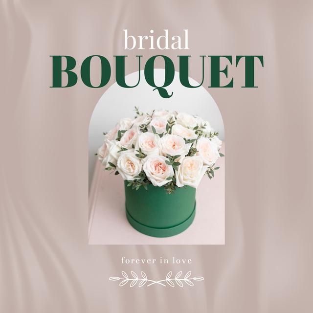 Plantilla de diseño de Bridal Bouquet of Tender white Roses Instagram