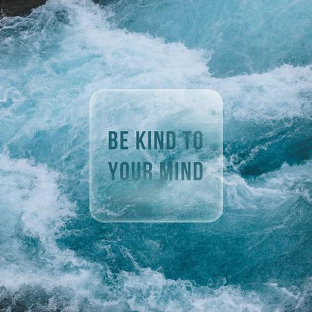 Inspirational Phrase with Ocean Waves Instagram – шаблон для дизайну
