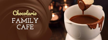 Ontwerpsjabloon van Facebook cover van Hot chocolate Fondue dish