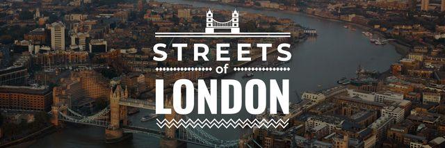 Plantilla de diseño de London Tower Travelling Spot Twitter
