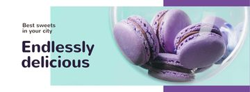 Bakery Ad Colorful Macarons in Purple