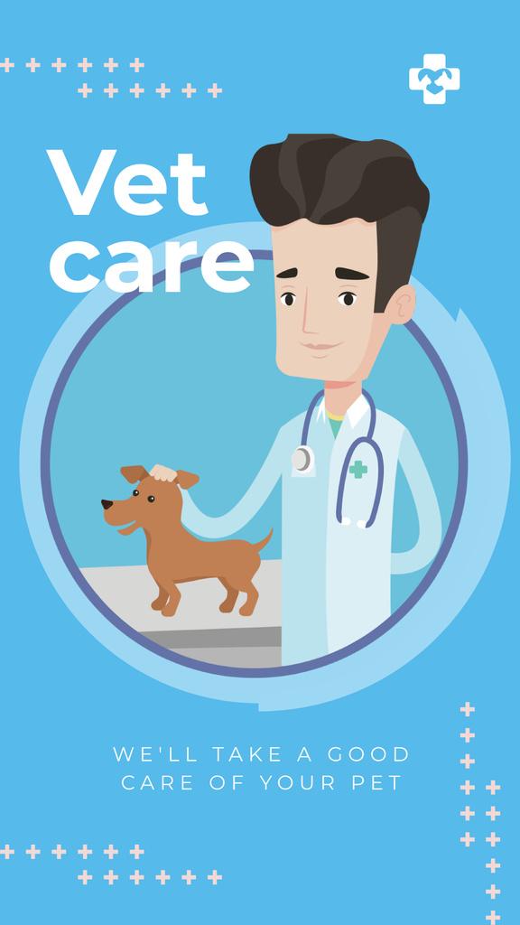 Vet taking care of dog Instagram Story Modelo de Design
